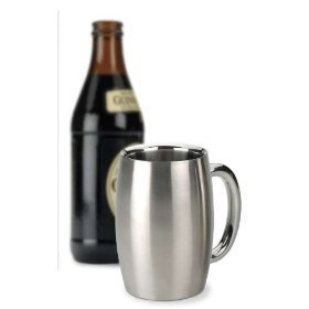 Endurance Stainless Steel Drink - RSVP International Endurance Stainless Steel Double Walled Beer Mug, 15 Ounce