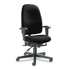 Global 32173NBKIM06 Granada Series High-Back Multi-Tilter Chair, Black Fabric ()