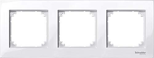 Schneider Electric MTN402325 Marco Elegance 3 Elementos Blanco Activo