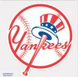 New York Yankees Logo Die Cut 4x4 (Baseball Logo Vinyl Sticker)