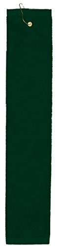 Anvil Tri Fold Center Grommet Hemmed Hand Towel, Hunter, One Size