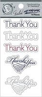 thank You Ruby Rock-it Fundamentals Cardmaking Stickers 2 pc