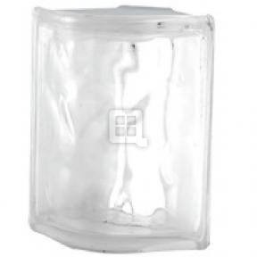 Quality Glass Block 4 x 8 x 4 Nubio Rounded Corner Glass Block