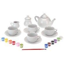 Totally Me! You Paint It Porcelain Tea Set