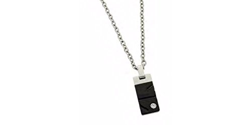 (Zoppini Stainless Steel Black Necklace)