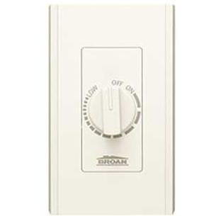 Broan 72V Electronic Variable Speed Control Ivory 6 amp 120V Bath fan control by Broan
