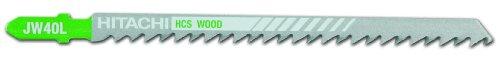 Hitachi 725389 5-1/4-Inch High Carbon Steel 6 TPI Wood Jig Saw Blade, 5-Pack