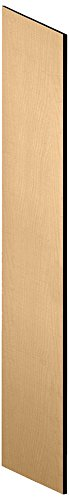 Salsbury Industries 22236MAP Side Panel for 21-Inch Deep Extra Wide Designer Wood Locker with Sloping Hood, Maple - Hood Wood Wide