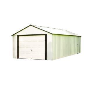 Murrayhill Vinyl Coated Steel, Coffee / Almond, High Gable, 73.8'' Wall Height, Roll-up Garage Door(12 x 10 ft / 3,6 x 2,8 m) by Arrow
