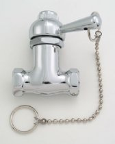 Jaclo 2222-SG Brass Pull-Chain Valve, Satin Gold by Jaclo