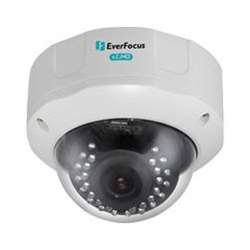 Everfocus EHD930F 1080P Full Had Day/Night Outdoor Ir Vandal Dome Camera, 2.24 Megapixel, Cmos Sensor, 2.8-12 mm DC Iris with Icr Lens, 12VDC/24VAC