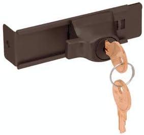 CRL Duranodic Bronze Stick-On Showcase Lock - Keyed Alike by CR Laurence