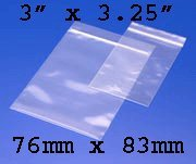 100 Grip Seal Bags 3 x 3.25 Inch 200g Strong Reusable by Gripseal