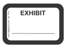 Legalstore exhibit labels exhibit white for Exhibit label template