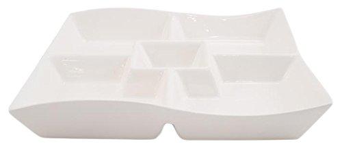 White Basics Collection, Motion Chip-N-Dip Platter, White