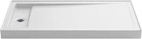 Kohler Shower Pans (KOHLER K-9163-0 Bellwether 60-Inch x 32-Inch Single-Threshold Shower Base with Left Center Drain, White)