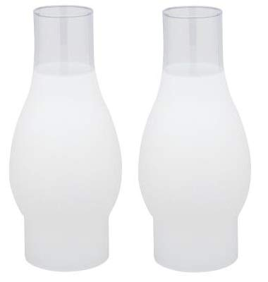 3 Inch Fitter Glass Chimney - Ciata Lighting 3 Inch Fitter Frosted Glass Chimney - 2 Pack