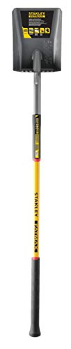 Stanley Garden BDS7135T FATMAX Xtreme Fiberglass Handle Square Head Shovel, Yellow/Black (Shovels Fiberglass)