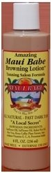 Tanning Brown Lotion Bed (Maui Babe - Tanning Salon Formula 8oz)