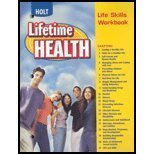 A Lifetime of Health : Life Skills, Holt, Rinehart and Winston Staff, 0030681170