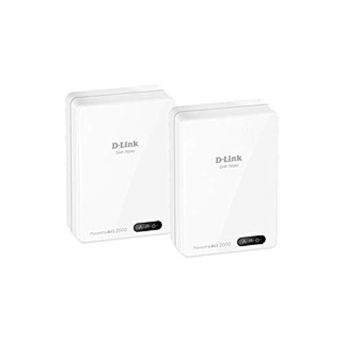 D-Link Powerline AV2 2000 Gigabit Network Extender Kit - 2-1 x Network (RJ-45) - HomePlug AV2 - Gigabit Ethernet (Certified Refurbished) by D-Link