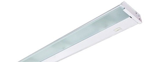 X8-120-WH LumenTask 8IN 1LT 120V Xenon Undercabinet Fixture, White Finish and Frosted Prismatic Glass Lens