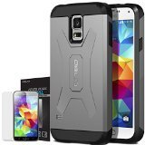 Galaxy S5 Case, OBLIQ [Xtreme Pro][White] + Screen Shield - Premium Slim Tough Thin Armor Fit Bumper Smooth Finish Dual Layered Heavy Duty Hard Protection Cover for Samsung Galaxy S5 OBGS5-XTP05