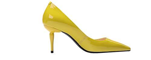Tacco Calzature Donna Vaneel Giallo Vadxpt Su 8cm Scarpe Punta Col toe Scivolare zqZpnq6v