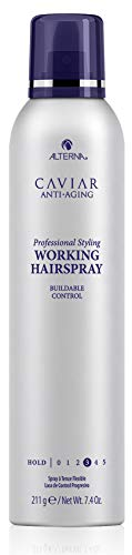 - CAVIAR Anti-Aging Professional Styling Working Hair Spray, Flexible Hold, 7.4-Ounce