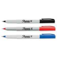 Sharpie Br&s Sharpie Permanent Marker, Ultra-Fine, Red (37122)