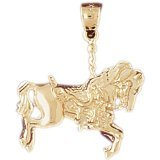 CleverEve 14K Gold Charm Carousels 3.3 Grams