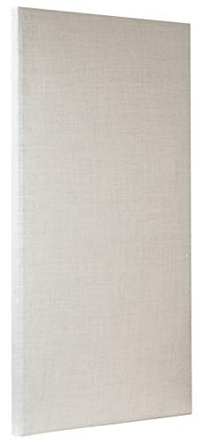 ATS Acoustic Panel 24x48x2 Inches, Beveled Edge, in Ivory