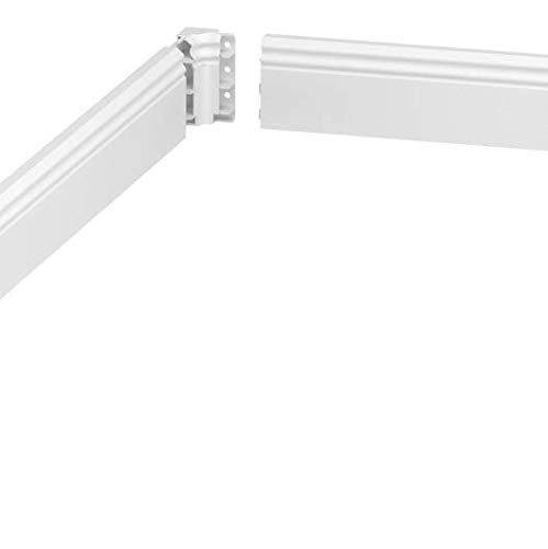 Color Blanco Rodapi/é Habengut Berliner Profil 6 m, PVC, con Canal de Cable Integrado, Altura: 80 mm, 4 Unidades de 1,5 m