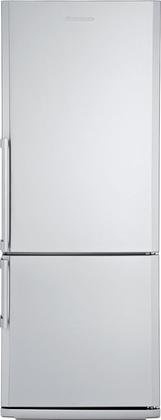 BRFB1452SSN 28'''' 13.8 cu. ft. capacity Bottom Freezer Refrigerator With Chrome Coated Wine Rack Bottle Holder Three Safety Glass Shelves Four Door Racks Reversible Door and In Stainless Steel by Blomberg (Image #1)
