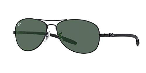Ray-Ban RB 8301-002 Black CARBON FIBRE Sunglasses With Crystal Green Lenses- 56mm ()