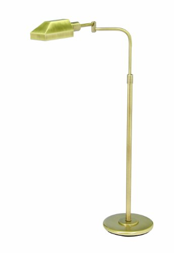 House Of Troy PH100-71-J Home/Office Collection Squared Portable Floor Lamp, Antique Brass