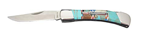 Fronay Collection Custom Native American Style Folding Hunter Pocket Knife Made in USA (Santa Fe) from Fronay Collection