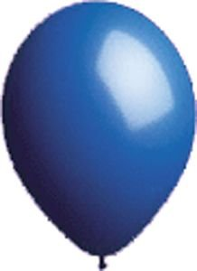 17'' Seal-Sealing Valved Dark Blue Latex Outdoor Balloon - Pack of 5