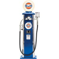 Gulf Oil Old-Time Gas Pump - 40in.H by Morgan Cycle