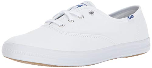 Keds Women's Champion Original Canvas Lace-Up Sneaker, White, 9 W US