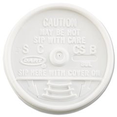 DCC8UL - Dart 8UL White Plastic Lids for Hot/Cold Foam Cups