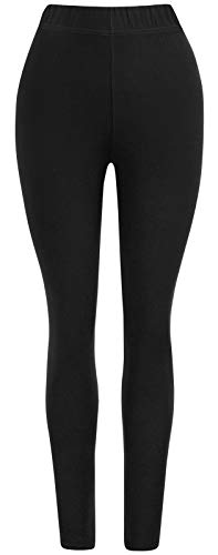 Fashion Cute Ultra Soft Ladies Seamless Solid Compression Ankle Leggings for Women Color Black Size XS-M