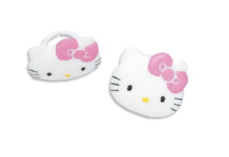 Hello Kitty Cupcake Rings (12 Rings) - Hello Kitty Cupcake Toppers