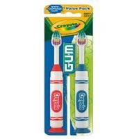 GUM Crayola Children Toothbrush, Soft, 2-Pack (Pack of 2 (4 x Brushes))