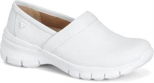 Nurse Mates Women's Libby Slip On,White Full Grain Leather,US 8 -