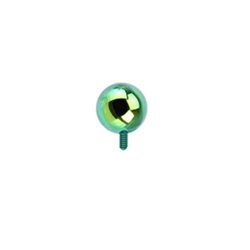 """Coolbodyart Unisex Dermal Anchor Aufsatz """"Kugel"""" 4mm in 5 Farben grün [Bijoux]"""