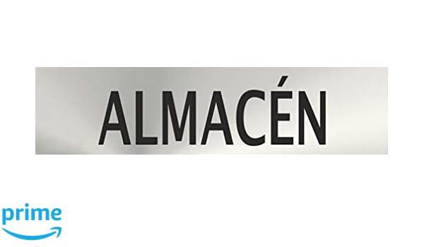 Se/ñal de acero inoxidable ALMACEN 200X50mm se/ñal informativa MovilCom/® ref.RD707066