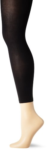 Footless Stretch Tights - Capezio Women's Hold & Stretch Footless Tight,Black,Large