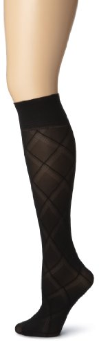 Gold Toe Women's Pattern Trouser 3 Pack,Black,9-11