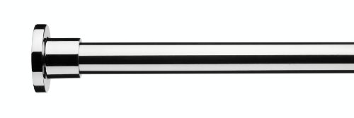 (Croydex Superline Stainless Steel Modular Shower Rod Kit includes L-Shaped/ U-Shaped/ Straight Ceiling Support/ Curtain)
